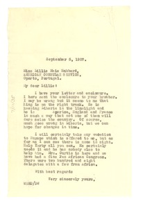 Thumbnail of Letter from W. E. B. Du Bois to Lillie Maie Hubbard