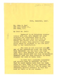 Thumbnail of Letter from W. E. B. Du Bois to Nail & Parker Real Estate