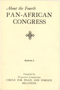 Thumbnail of About Pan-African Congresses bulletin 2