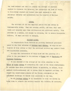 Thumbnail of Pan African Congress resolutions [fragment]
