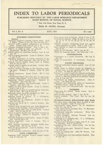 Index to Labor Periodicals