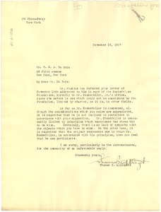 Thumbnail of Letter from The Rockefeller Foundation to W. E. B. Du Bois