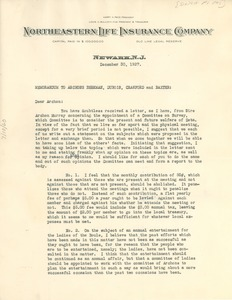 Thumbnail of Memorandum from Sigma Pi Phi, Committee on Survey to W. E. B. DU Bois, Walter Beekman, George Crawford,         and J. Leroy Baxter