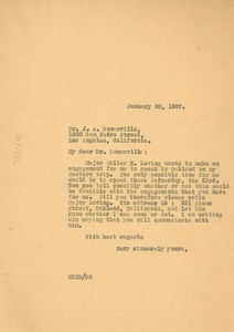 Thumbnail of Letter from W. E. B. Du Bois to J. A. Somerville