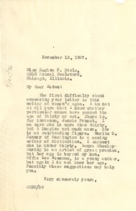 Thumbnail of Letter from W. E. B. Du Bois to Regina F. Stolz