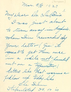 Thumbnail of Letter from Emma Craig Thompson to W. E. B. Du Bois