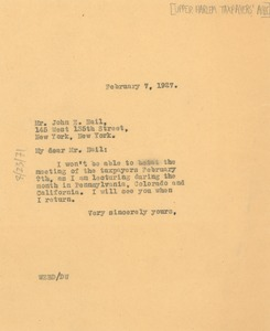 Thumbnail of Letter from W. E. B. Du Bois to John E. Nail