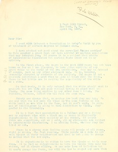 Thumbnail of Letter from H. B. Hayden to Lester Walton