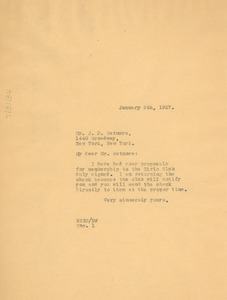 Thumbnail of Letter from W. E. B. Du Bois to J. D. Wetmore