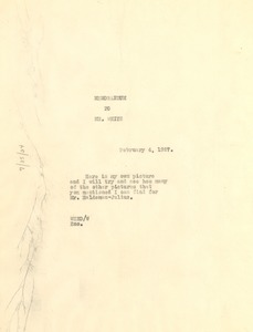 Thumbnail of Memorandum from W. E. B. Du Bois to Walter Francis White