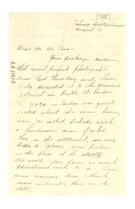 Thumbnail of Letter from Mabel Byrd to W. E. B. Du Bois