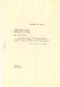 Thumbnail of Letter from W. E. B. Du Bois to Edith Dorsey