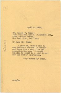 Thumbnail of Letter from W. E. B. Du Bois to Paul Laurence Dunbar Apartments, Inc.