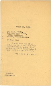 Thumbnail of Letter from W. E. B. Du Bois to Ford Hall Forum