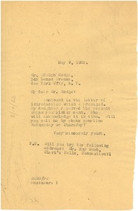 Thumbnail of Letter from W. E. B. Du Bois to Adolph Hodge
