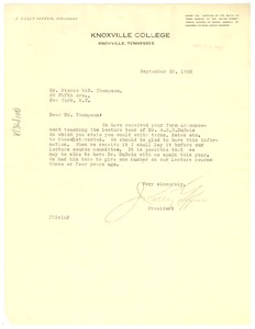 Thumbnail of Letter from Knoxville College to W. E. B. Du Bois