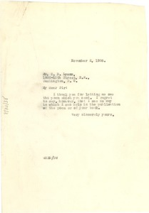 Thumbnail of Letter from W. E. B. Du Bois to Edward Lyons