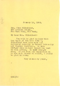 Thumbnail of Letter from W. E. B. Du Bois to Mrs. John Milholland
