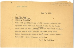 Thumbnail of Telegram from W. E. B. Du Bois to John Hope
