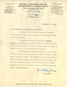 Thumbnail of Circular letter from the NAACP to W. E. B. Du Bois