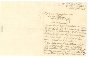 Thumbnail of Letter from Harry A. Simmons to The Crisis