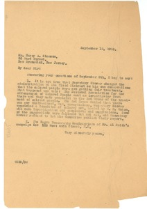 Thumbnail of Letter from W. E. B. Du Bois to Harry A. Simmons
