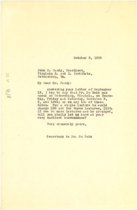 Thumbnail of Letter from Marvel K. Jackson to Virginia Normal and Industrial Institute