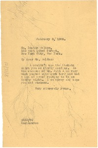 Thumbnail of Letter from W. E. B. Du Bois to Lester A. Walton