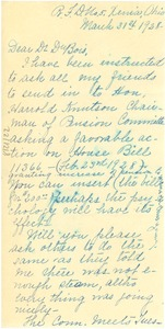 Thumbnail of Letter from Ada Young to W. E. B. Du Bois