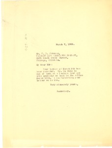 Thumbnail of Letter from unidentified correspondent to Association of Executives of Life and Accident Insurance Companies