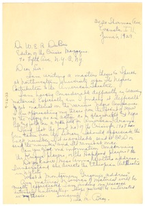 Thumbnail of Letter from Mila M. Bray to W. E. B. Du Bois