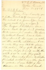 Thumbnail of Letter from Maggie A. Caldwell to W. E. B. Du Bois
