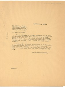 Thumbnail of Letter from W. E. B. Du Bois to The Chicago Forum Council