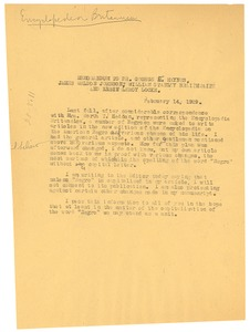 Thumbnail of Memorandum from W. E. B. Du Bois to William Stanley Braithwaite, George E. Haynes, James Weldon Johnson,              and Alain LeRoy Locke