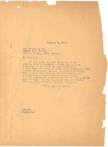 Thumbnail of Letter from W. E. B. Du Bois to the editors of Ilanga Lase Natal