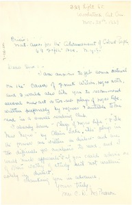 Thumbnail of Letter from Mrs. C. D. McPherson to The Crisis