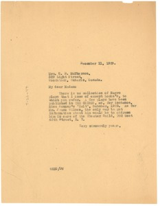 Thumbnail of Letter from W. E. B. Du Bois to Mrs. C. D. McPherson