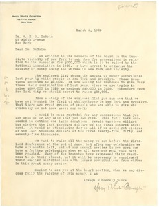 Thumbnail of Letter from NAACP to W. E. B. Du Bois