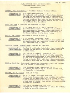 Thumbnail of Late Spingarn Medal recommendations received after April 30