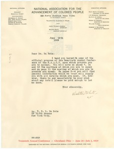 Thumbnail of Letter from The NAACP to W. E. B. Du Bois