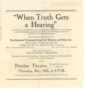 Thumbnail of When Truth Gets a Hearing pageant program
