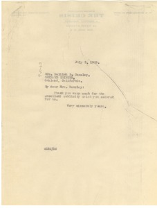 Thumbnail of Letter from W. E. B. Du Bois to Delilah Beasley