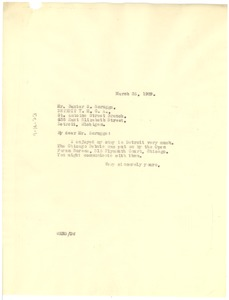 Thumbnail of Letter from W. E. B. Du Bois to Young Men's Christian Association of Detroit