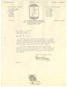 Thumbnail of Letter from Young Men's Christian Association of Detroit to W. E. B. Du Bois