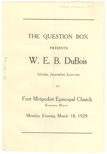 Thumbnail of Young Men's Christian Association of Evanston Question Box Program
