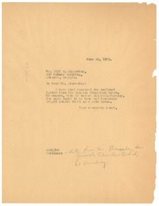 Thumbnail of Letter from W. E. B. Du Bois to Will W. Alexander