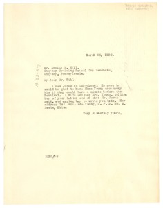 Thumbnail of Letter from W. E. B. Du Bois to The American Interracial Peace Committee.