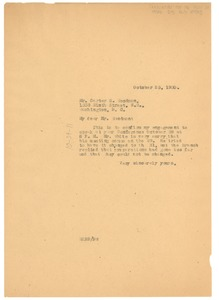 Thumbnail of Letter from W. E. B. Du Bois to The Association for the Study of Negro Life and             History