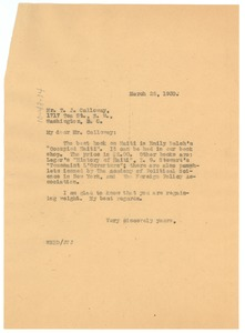Thumbnail of Letter from W. E. B. Du Bois to Thomas J. Calloway