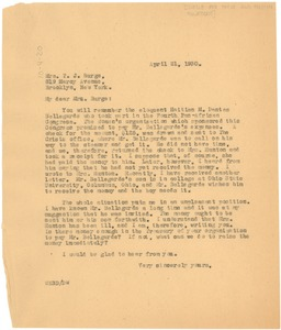 Thumbnail of Letter from W. E. B. Du Bois to The Circle for Peace and Foreign Relations